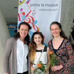 v.l.n.r.: Rozana Nemeth, Julia Grossmann, Nya Jemima Gabmair-Cass