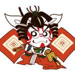 歌舞伎 イラスト キャラクター かわいい 2等身 しばらく 暫 十八番