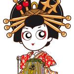 歌舞伎 イラスト キャラクター かわいい 2等身 揚巻 あげまき おいらん
