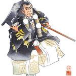 歌舞伎 役者 水彩画 挿絵 勧進帳