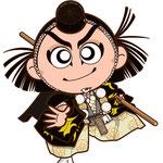 歌舞伎 イラスト キャラクター かわいい 2等身 勧進帳 弁慶