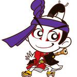 歌舞伎 イラスト キャラクター かわいい 2等身 助六 見得 ヒーロー