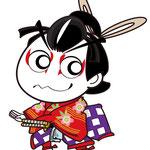 歌舞伎 イラスト キャラクター かわいい 2等身 桜丸 菅原伝授手習鑑 すがわら でんじゅ てならい かがみ