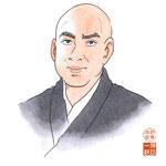 歌舞伎 役者 水彩画 挿絵 市川団十郎 似顔絵