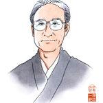歌舞伎 役者 水彩画 挿絵 片岡仁左衛門 似顔絵
