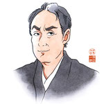 歌舞伎 役者 水彩画 挿絵 中村勘三郎