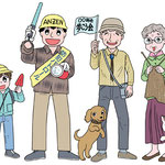 広報誌用イラスト 町内会活動