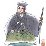 歌舞伎 役者 水彩画 挿絵 日本駄右衛門  弁天娘女男白浪 五人男