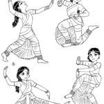 学習漫画インドのひみつ(学研) 古典舞踊