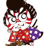 歌舞伎 イラスト キャラクター かわいい 2等身 梅王丸 菅原伝授手習鑑 すがわら でんじゅ てならい かがみ
