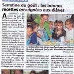 Semaine du goût 2013 à l'école primaire du Lavandou.