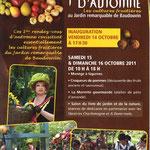 La Valette du Var pour les premières rencontres d'Automne au Jardin de Baudouvin