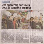 Semaine du goût à l'école maternelle de Grimaud. Octobre 2012