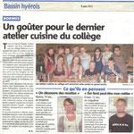 Article du mois de juin 2012