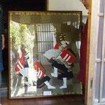 映画サクラサクの最初にバーンと出てくる「子供歌舞伎」の布絵。早瀬在住「渡辺弘子さん」の作品にも出会えます。