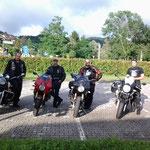 Ecco i baldi motociclisti da sx Alberto, Romolo, Stefano e Davide