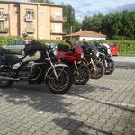 Da sx: California III, V11 Lemans Rosso Corsa, V11 Lemans Nero Corsa, 1200 Sport