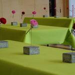 Sponsoring Tischdekoration Wirtschaftsapéro Wilderswil 2018