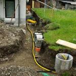 Strom- und Frischwasserleitung verlegen