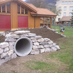 Trockenmauer mit Ringgenbergersteine