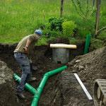 Dachwasserleitung verlegen