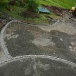 Neugestaltung Wendeplatz, eingefasst mit Pflastersteinen