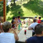gemütlich beim Grillfest in Lengberg - Juli 2016