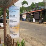 Speisekarte in Sygiria
