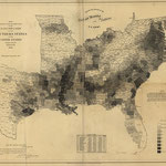 Slave distribution in the South in 1860 - Census Bureau