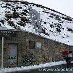 ...und auf em Col de Tourmalet  MIT SCHNEE :-(