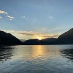 ...und den Abend mit einem schönen Sonnenuntergang genießen
