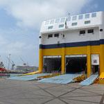 Bereit zum Einschiffen für die Überfahrt nach Bastia/Korsika