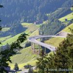 Westrampe vom Hochtannbergpass
