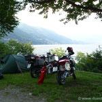 Camping Bosco in Cannobio mit traumhaftem Blick auf den Lago