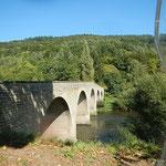 und immer wieder kleine Brücken über die Sauer zwischen Luxemburg und Deutschland