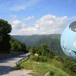 Auffahrt zum Monte Grappa in den Vizentiener Alpen