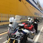 angekommen im Hafen von Livorno