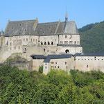 die Burg Vianden, eine der feudalsten Residenzen der romanischen und gotischen Zeit in Europa