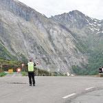 :-( keine Weiterfahrt zum Col de Aubique - SCHADE