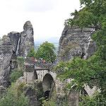die Bastei, das Wahrzeichen der sächsischen Schweiz
