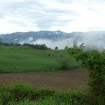 Ausläufer der Appeninen zwischen Voghera und Varzi