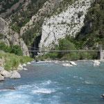 Puente Colgante de Jánovas über den Río Ara