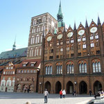 Stralsund, Rathaus mit Nikolaikirche
