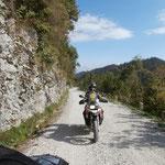 auf der slowenischen Grenzkammstrasse