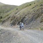 Abfahrt von der Arasan-Kammstrasse