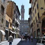 erster Blick auf den Palazzo Vecchio