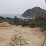 auf dem Weg zur Costa Rei am Capo Ferrato