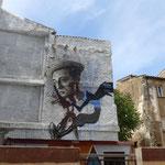 Huesca - Buster Keaton (Wandmalerei)