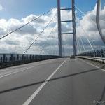 die neue Verbindungsbrücke zwischen Stralsund und der Insel Rügen