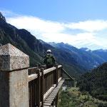 Aussicht ins Tal La Fruia